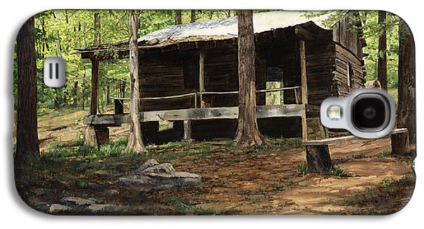 Howell Log Cabin - Hartshorn Galaxy S4 Case by Don  Langeneckert