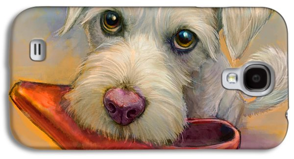 Dogs Paintings Galaxy S4 Cases - Howies Shoe Galaxy S4 Case by Sean ODaniels