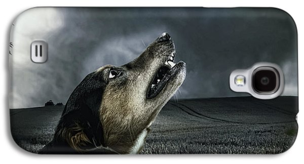 Growling Galaxy S4 Cases - Howling at the Moon Galaxy S4 Case by Mountain Dreams