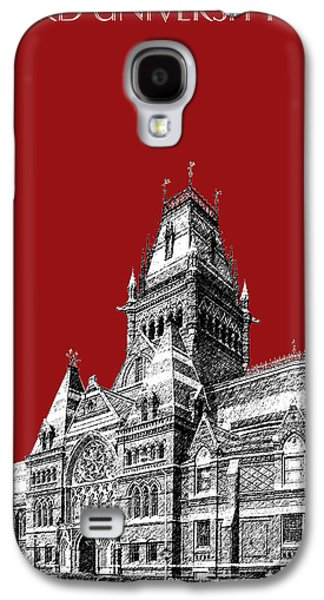 Universities Digital Art Galaxy S4 Cases - Harvard University - Memorial Hall - Dark Red Galaxy S4 Case by DB Artist