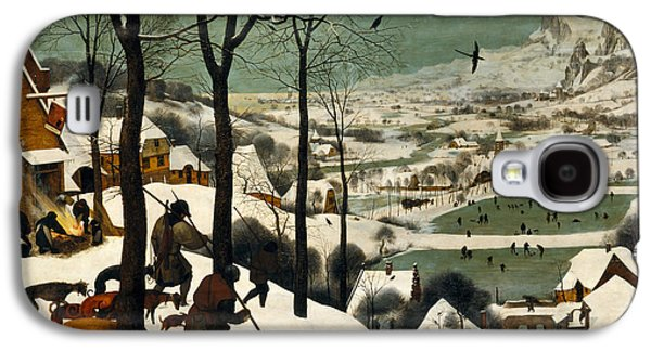 Dogs In Snow. Paintings Galaxy S4 Cases - Hunters on the Snow Galaxy S4 Case by Pieter Bruegel the Elder
