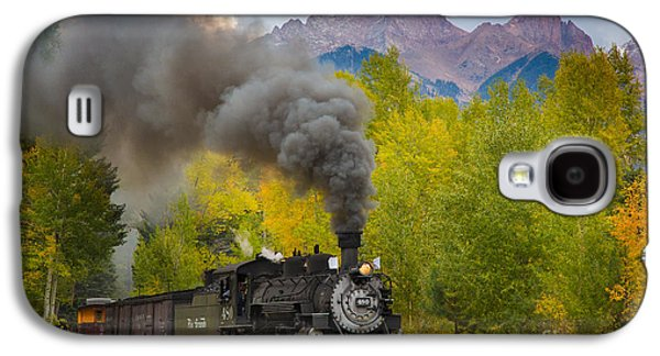 Western Photographs Galaxy S4 Cases - Huffing and Puffing Galaxy S4 Case by Inge Johnsson