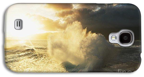 China Beach Galaxy S4 Cases - Huge wave crashing against coastal rocks on the Portlock coastline_ Oahu, Hawaii, United States of America Galaxy S4 Case by Charmian Vistaunet