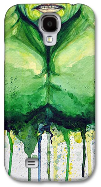 Green Galaxy S4 Cases - Hulk Galaxy S4 Case by David Kraig