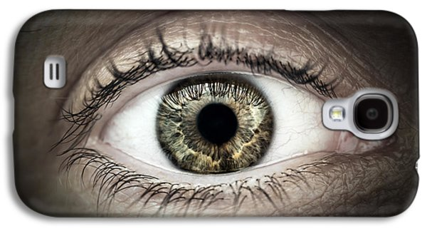 Person Galaxy S4 Cases - Human eye macro Galaxy S4 Case by Elena Elisseeva