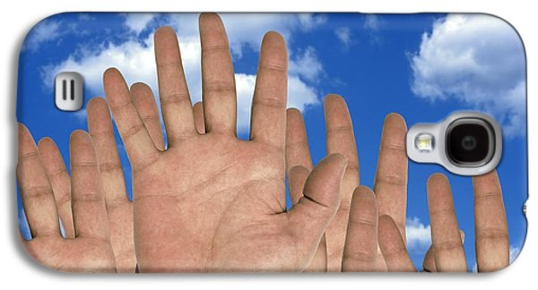 Enterprise Galaxy S4 Cases - Human Hands And The Sky, Conceptual Galaxy S4 Case by Victor de Schwanberg
