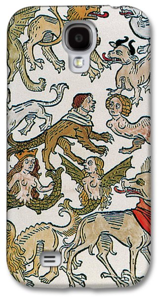 Folkloric Galaxy S4 Cases - Human Monsters 1493 Galaxy S4 Case by Photo Researchers