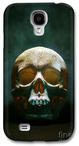 Creepy Galaxy S4 Cases - Human Skull Galaxy S4 Case by Carlos Caetano
