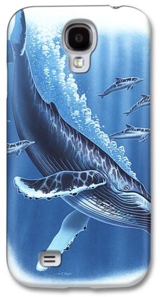 Ocean Mammals Galaxy S4 Cases - Humback and Dolphins Galaxy S4 Case by JQ Licensing