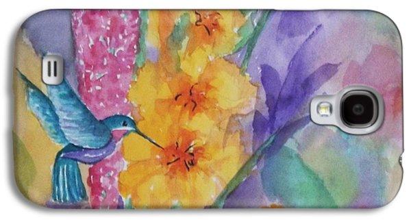Hummingbird Heaven - Square Galaxy S4 Case by Ellen Levinson