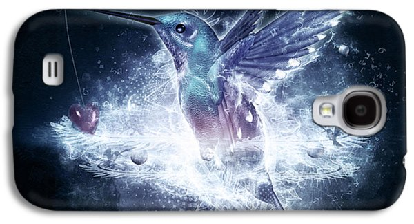 Photoshop Digital Art Galaxy S4 Cases - Hummingbird Print Galaxy S4 Case by Cameron Gray