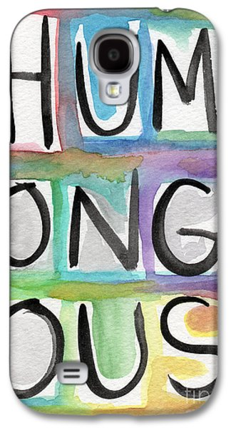 Colorful Abstract Galaxy S4 Cases - Humongous Word Painting Galaxy S4 Case by Linda Woods