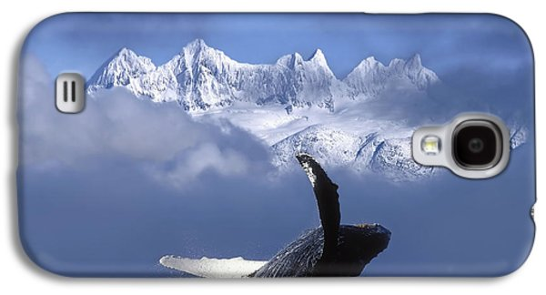Humpback Whale Breaches In Clearing Fog Galaxy S4 Case by John Hyde