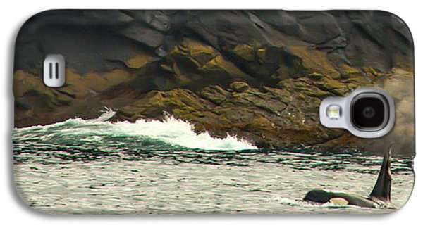 Whale Digital Art Galaxy S4 Cases - Humpback Whale Galaxy S4 Case by Debra  Miller
