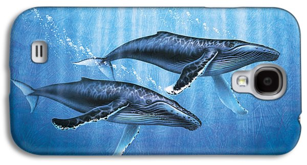 Ocean Mammals Galaxy S4 Cases - Humpback Whales Galaxy S4 Case by JQ Licensing