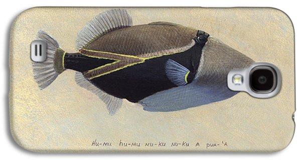 Triggerfish Paintings Galaxy S4 Cases - Humu humu nuku nuku apua Galaxy S4 Case by Randall Scott