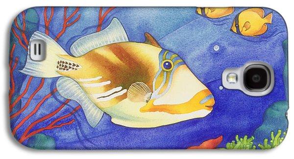 Triggerfish Paintings Galaxy S4 Cases - Humu Picasso Triggerfish Galaxy S4 Case by Laura Nikiel