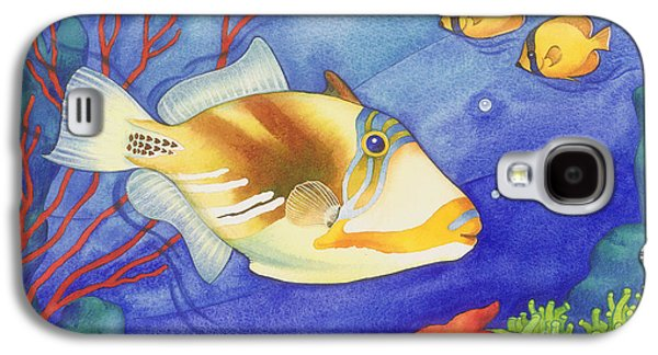 Triggerfish Paintings Galaxy S4 Cases - Humu Picasso Triggerfish Galaxy S4 Case by Laura Nikiel
