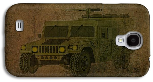 Business Drawings Galaxy S4 Cases - Humvee Midnight Desert  Galaxy S4 Case by Movie Poster Prints