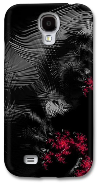 Creepy Digital Art Galaxy S4 Cases - Hunger - dark and blood red fractal art Galaxy S4 Case by Matthias Hauser