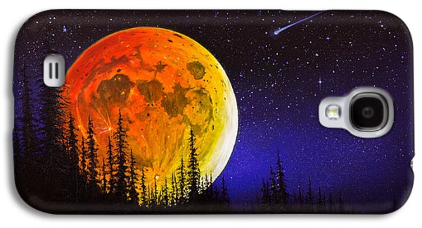 Recently Sold -  - Bob Ross Paintings Galaxy S4 Cases - Hunters Harvest Moon Galaxy S4 Case by C Steele