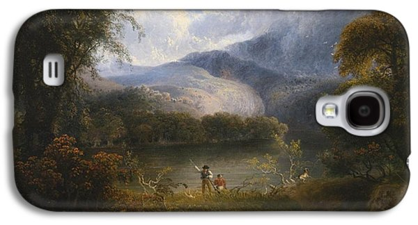 Hunters With A Dog In A Landscape Galaxy S4 Case by Celestial Images