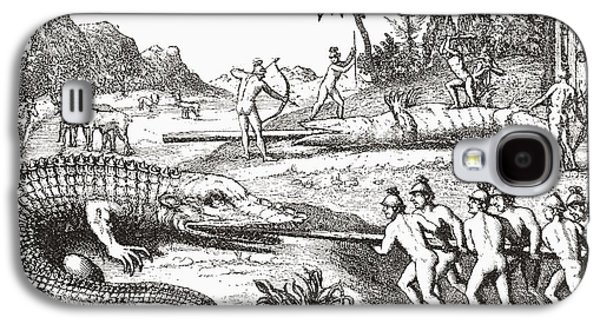 Hunting Alligators In The Southern States Of America Galaxy S4 Case by Theodor de Bry