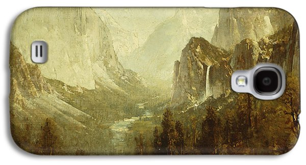 Wilderness Paintings Galaxy S4 Cases - Hunting In Yosemite Galaxy S4 Case by Thomas Hill