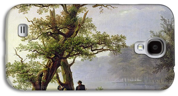 Woodlands Scene Paintings Galaxy S4 Cases - Hunting Waterfowl Galaxy S4 Case by Thomas Fearnley