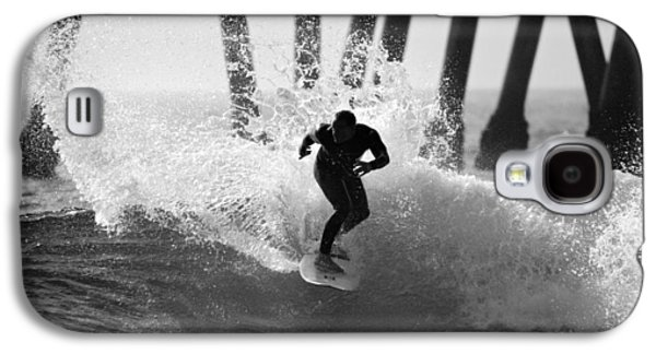 Slash Galaxy S4 Cases - Huntington beach Surfer Galaxy S4 Case by Pierre Leclerc Photography
