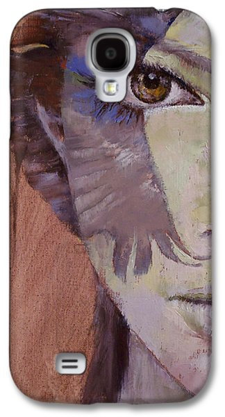 Crows Paintings Galaxy S4 Cases - Huntress Galaxy S4 Case by Michael Creese