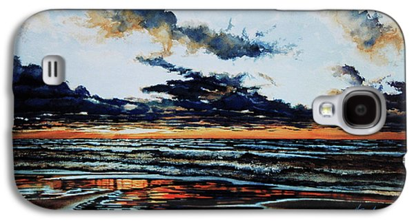 Thunder Paintings Galaxy S4 Cases - Huron Galaxy S4 Case by Hanne Lore Koehler
