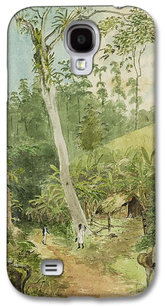 Slavery Galaxy S4 Cases - Hut in the jungle circa 1816 Galaxy S4 Case by Aged Pixel