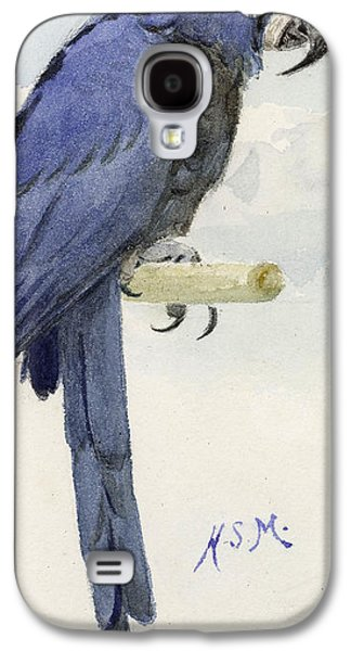 Talons Paintings Galaxy S4 Cases - Hyacinth Macaw Galaxy S4 Case by Henry Stacey Marks
