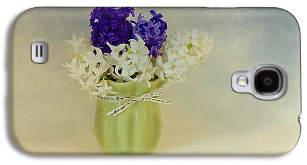 Painter Photo Mixed Media Galaxy S4 Cases - Hyacinths Galaxy S4 Case by Linda Muir