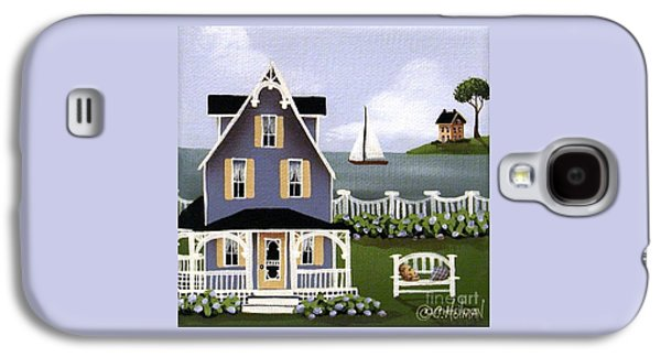 Country Cottage Galaxy S4 Cases - Hydrangea Cove Galaxy S4 Case by Catherine Holman
