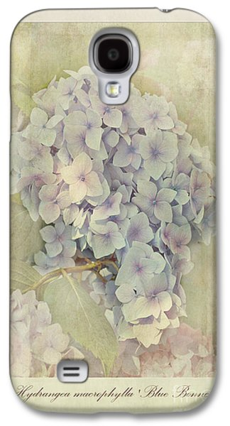 Stamen Digital Galaxy S4 Cases - Hydrangea macrophylla Blue Bonnet Galaxy S4 Case by John Edwards
