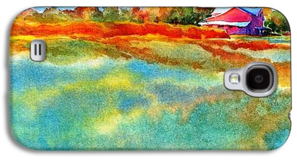 Mood Paintings Galaxy S4 Cases - I Aint Workin On Maggies Farm No More Galaxy S4 Case by Virgil Carter