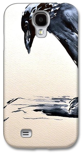 Caws Paintings Galaxy S4 Cases - I Am A Crow Galaxy S4 Case by Beverley Harper Tinsley