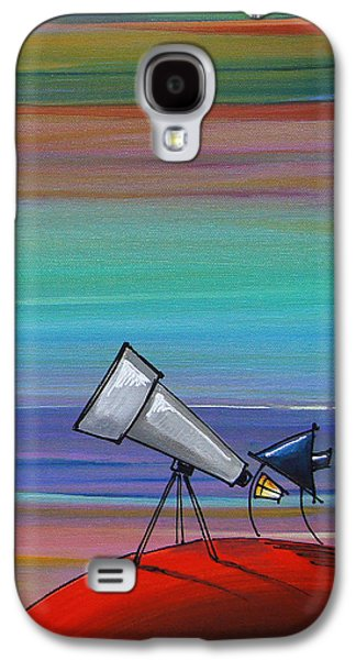 Astronomy Paintings Galaxy S4 Cases - I Finally Found You Galaxy S4 Case by Cindy Thornton