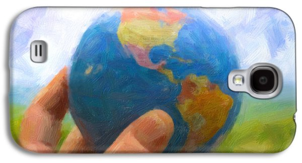 Terrestrial Galaxy S4 Cases - I Got The Whole World Galaxy S4 Case by Jeff  Gettis