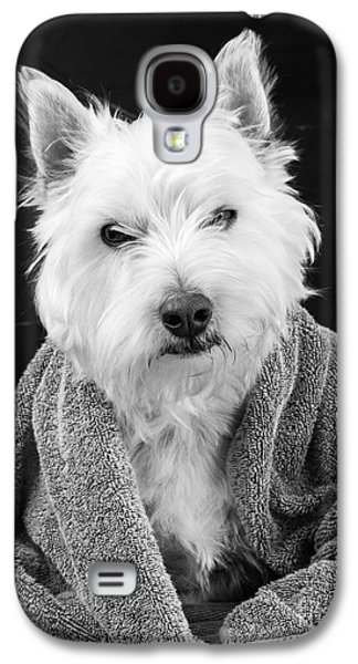 Puppies Galaxy S4 Cases - I hate Mondays Galaxy S4 Case by Edward Fielding