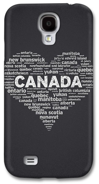Concept Mixed Media Galaxy S4 Cases - I Love Canada Galaxy S4 Case by Aged Pixel