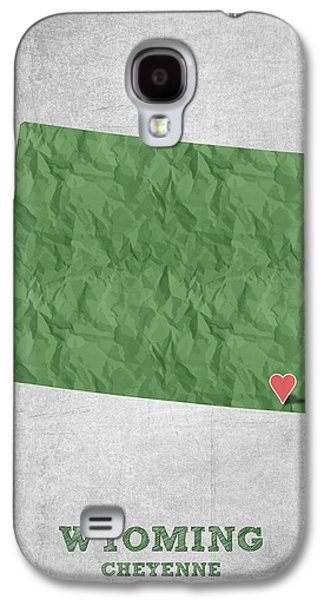 Equality Galaxy S4 Cases - I love Cheyenne Wyoming - Green Galaxy S4 Case by Aged Pixel