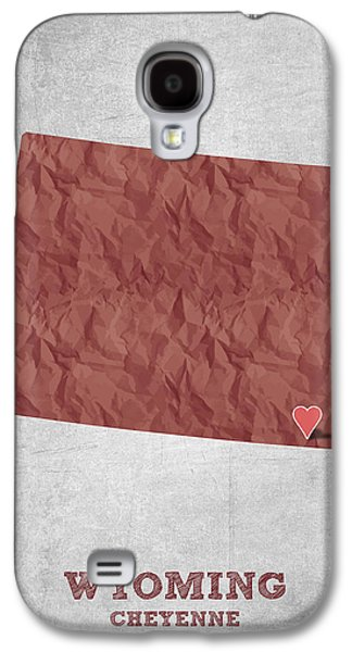 Equality Galaxy S4 Cases - I love Cheyenne Wyoming - Red Galaxy S4 Case by Aged Pixel