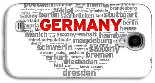 Hamburg Galaxy S4 Cases - I Love Germany Galaxy S4 Case by Aged Pixel