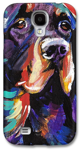 Puppies Galaxy S4 Cases - I Love Gordon Galaxy S4 Case by Lea