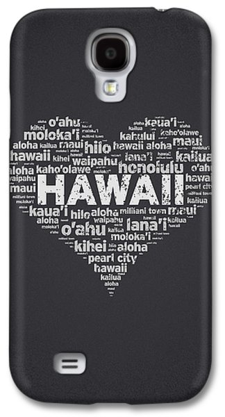 Concept Mixed Media Galaxy S4 Cases - I Love Hawaii Galaxy S4 Case by Aged Pixel