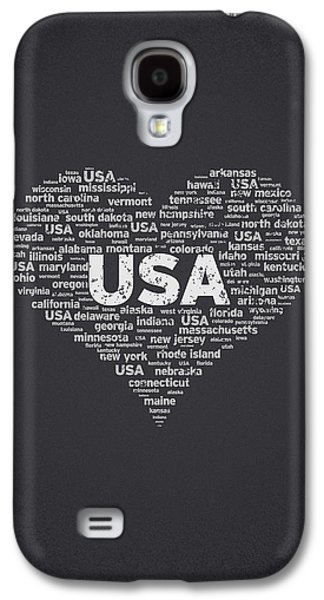 Independence Day Galaxy S4 Cases - I Love USA Galaxy S4 Case by Aged Pixel