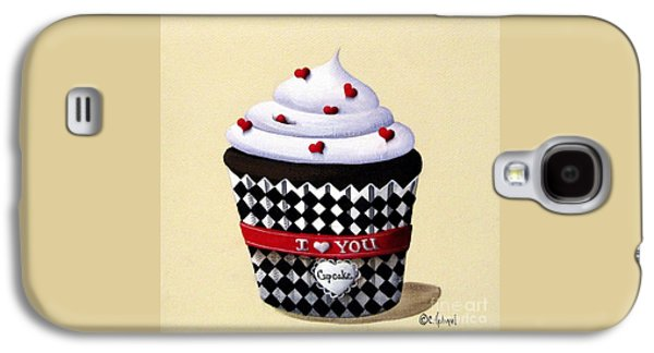 Catherine Galaxy S4 Cases - I Love You Cupcake Galaxy S4 Case by Catherine Holman
